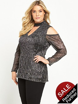 so-fabulous-metallic-crinkle-cold-shoulder-top