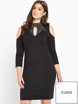 v-by-very-curve-keyhole-embellished-bodycon-dress-black