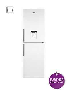 beko-cfp1691dw-60cm-frost-free-fridge-freezer-with-non-plumbed-water-dispenser-white