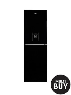 beko-cfe1691db-60cm-frost-free-fridge-freezer-with-water-dispenser-black