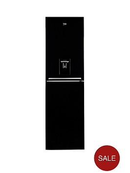 beko-cfg1582db-545cm-frost-free-fridge-freezer-with-non-plumbed-water-dispenser-black