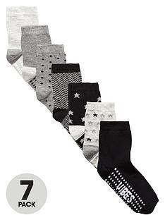 v-by-very-boys-grey-star-socks-7-pack