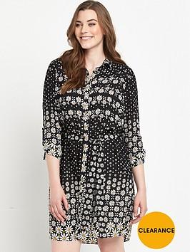 v-by-very-curve-print-shirt-dress