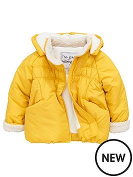 mini-v-by-very-girls-mustard-pointed-hood-coat