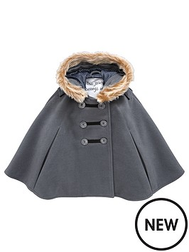 mini-v-by-very-girls-charcoal-faux-fur-trim-cape