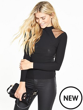 v-by-very-mesh-cut-out-top
