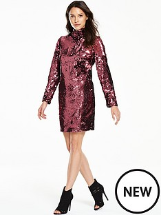 v-by-very-sequin-bow-shift-dress