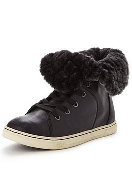 ugg-australia-croft-quilted-fur-trainernbsp