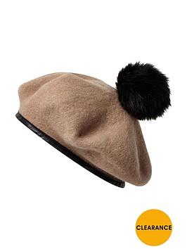 river-island-pom-pom-detail-beret