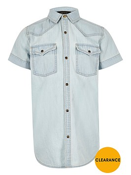 river-island-boys-light-blue-western-denim-shirt