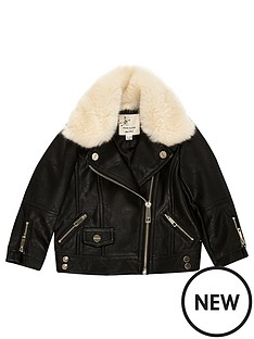 river-island-mini-mini-girls-black-faux-fur-lined-jacket
