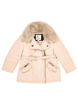 river-island-mini-girls-cream-faux-fur-quilted-jacket