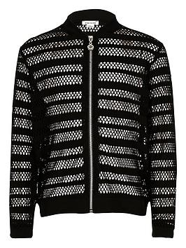 river-island-girls-black-mesh-bomber-jacket
