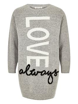 river-island-girls-grey-love-print-jumper-dress