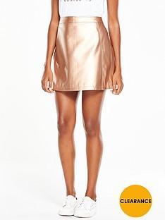 v-by-very-metallic-a-line-mini-skirt