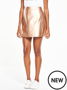 v-by-very-metallic-a-line-mini-skirt