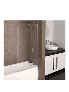 aqualux-aqua-3-half-frame-radius-bath-screen-white-hinge
