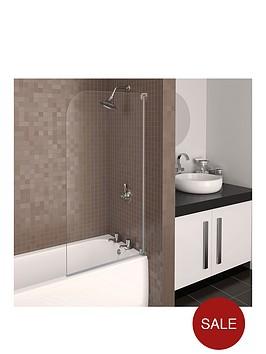 aqualux-aqua-3-half-frame-radius-bath-screen-grey-hinge