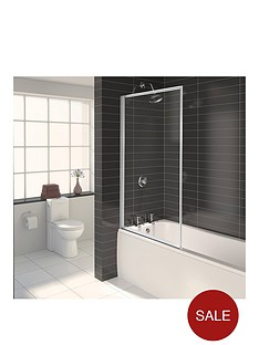 aqualux-aqua-3-fully-framed-bath-screen-white