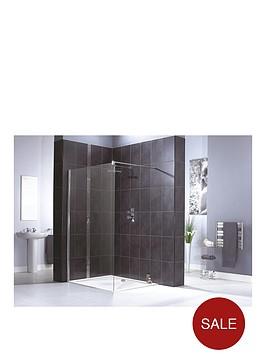 aqualux-shine-shower-panel-1200mm-amp-aqua-25-sphere-shower-tray-1200mm-x-760mm