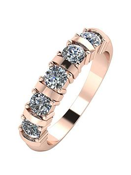 moissanite-9ct-rose-gold-1ct-moissanite-5-stone-eternity-ring