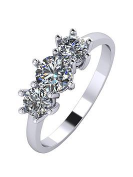 Platinum 1 Carat Trilogy Ring