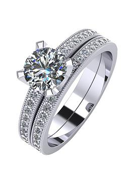 moissanite-platinum-14-carat-two-piece-bridal-set