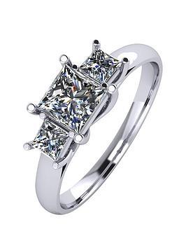 moissanite-platinum-1ct-3-stone-square-cut-ring