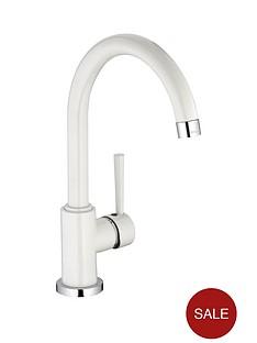 schutte-cornwall-single-lever-kitchen-sink-mixer-white-tap