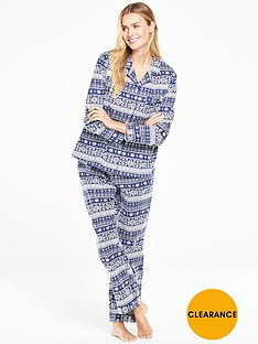 v-by-very-fair-isle-flannel-pj-setnbsp