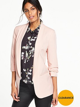 v-by-very-longerline-ruched-blazer