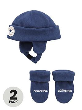 converse-baby-boys-fleece-hatmitts-set