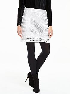 v-by-very-metallic-crochet-skirt