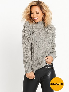 myleene-klass-cable-knit-jumper-grey