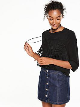 v-by-very-suedette-fringed-top