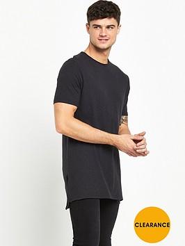 river-island-longline-zip-detail-t-shirt