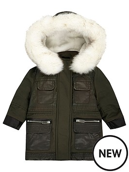 river-island-mini-girls-khaki-faux-fur-parka