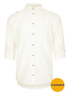 river-island-girls-white-military-shirt