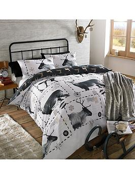 reindeer-postcard-duvet-cover-set