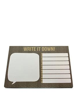 go-stationery-kraft-typo-desk-pad
