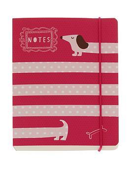 go-stationery-sausage-dog-a6-notebook