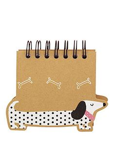 go-stationery-sausage-dog-a6-spiral-notebook