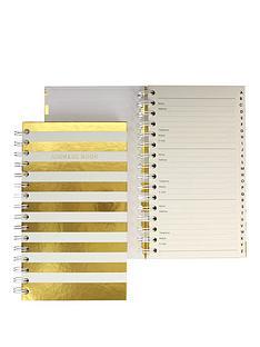 go-stationery-shimmer-stripe-address-book
