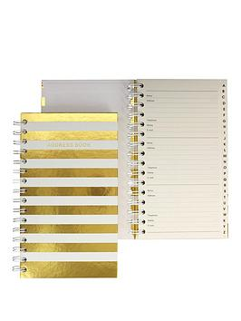 go-stationery-shimmer-stripe-address-book