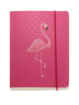 go-stationery-flamingo-a6-chunky-notebook