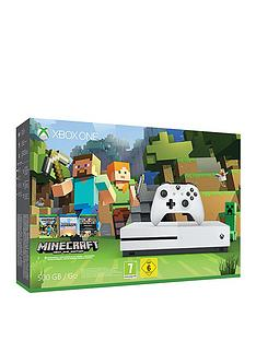 xbox-one-s-500gbnbspminecraft-favourites-bundle-plus-optional-extra-dualshocknbspcontroller-andor-12-months-live-gold