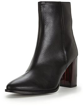 miss-selfridge-miss-selfridge-point-ombre-heel-leather-boot