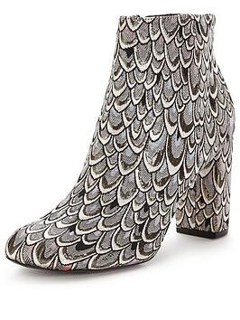 miss-selfridge-brocade-ankle-boot