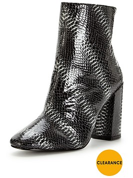 miss-selfridge-snake-block-heel-boot