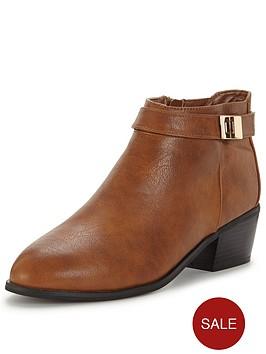miss-selfridge-tan-casual-boot